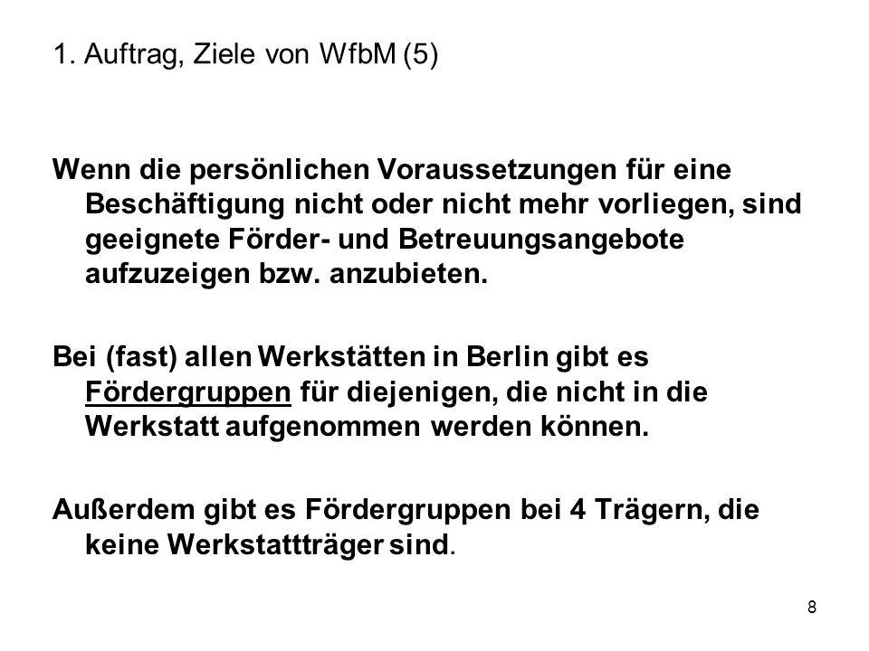 9 1. Auftrag, Ziele von WfbM ( 6)
