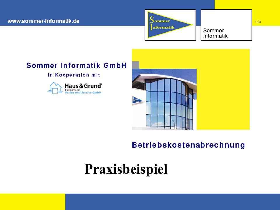 www.sommer-informatik.de Praxisbeispiel 1.03