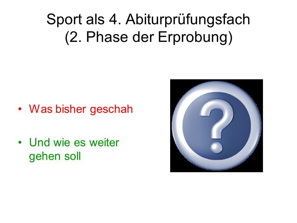 Sport als 4. Abiturprüfungsfach (2.