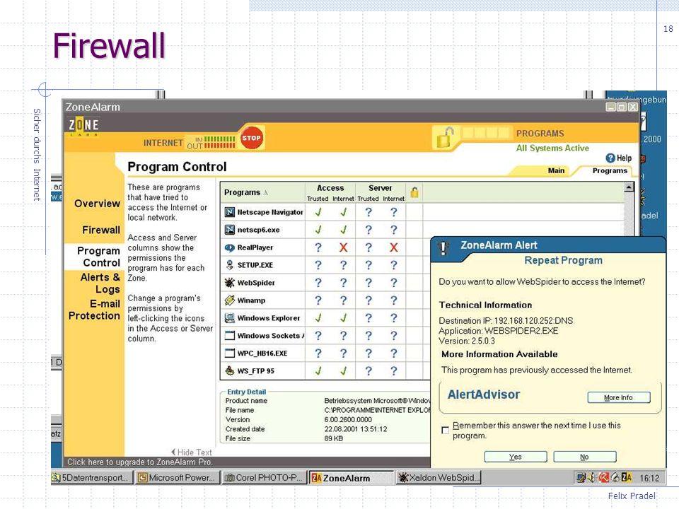 Felix Pradel Sicher durchs Internet 18 Firewall