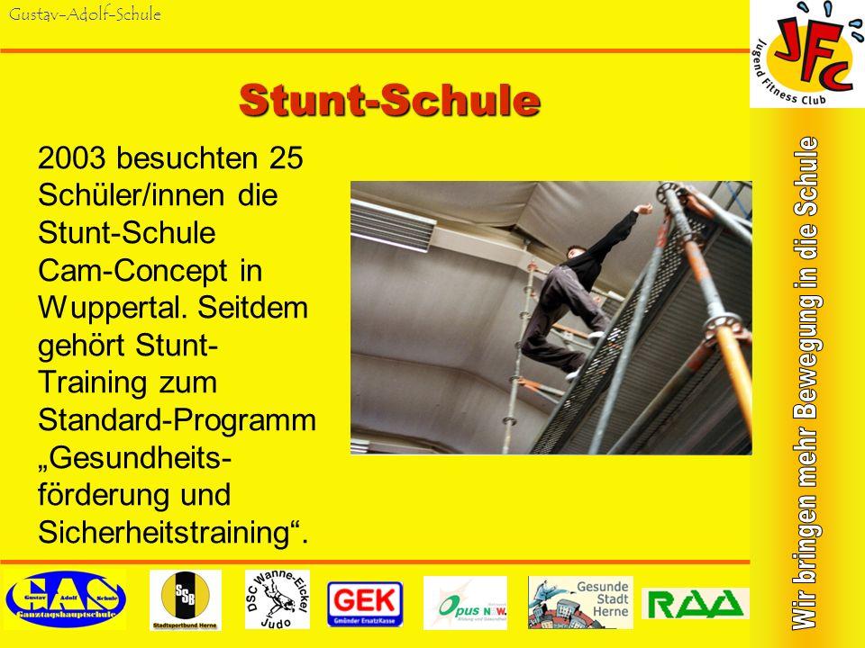 Gustav-Adolf-SchuleJugend-Fitness-Test Sporthelfer/innen assistieren bei der Durchführung des Jugend-Fitness- Test. Dabei werden auch Größe, Gewicht u