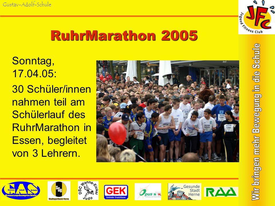 Gustav-Adolf-SchuleKing-Gustav-Orientierungslauf Seit 2004 jährlich wiederkehrender Wettkampf für Herner Schülerinnen und Schüler der Jahrgangsstufen