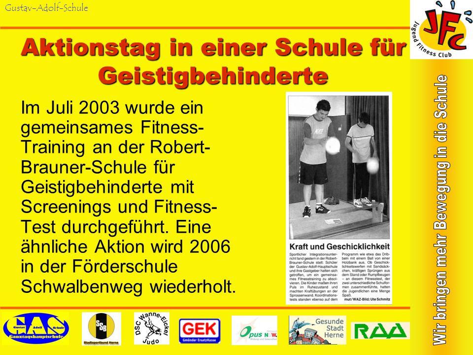 Gustav-Adolf-Schule Sponsorenlauf 2005 Unser erster Sponsorenlauf brachte über 4.000 für Sport- und Gesund- heitsprojekte der Schule. Eine Aktion von