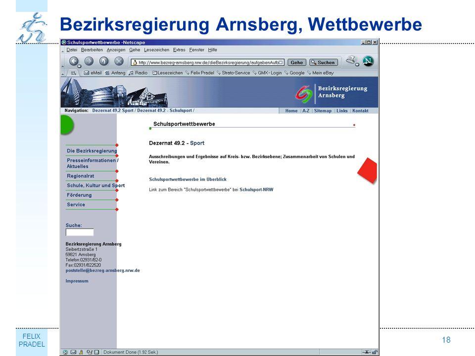 FELIX PRADEL Thema18 Bezirksregierung Arnsberg, Wettbewerbe