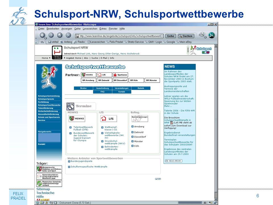 FELIX PRADEL Thema6 Schulsport-NRW, Schulsportwettbewerbe