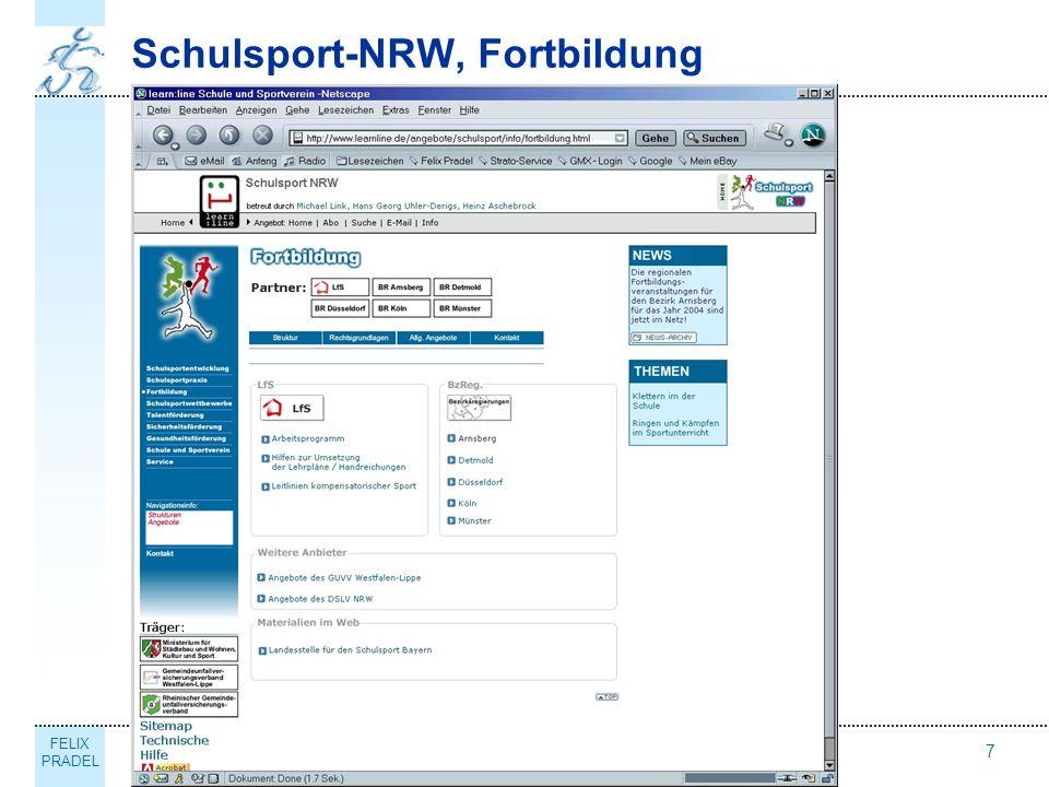 FELIX PRADEL Thema7 Schulsport-NRW, Fortbildung