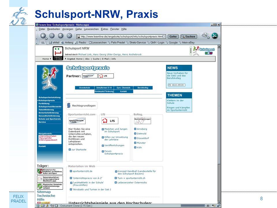 FELIX PRADEL Thema8 Schulsport-NRW, Praxis