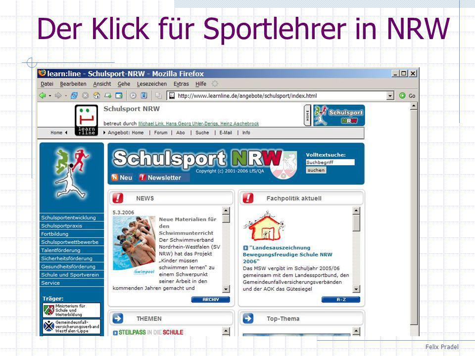 Felix Pradel Der Klick für Sportlehrer in NRW