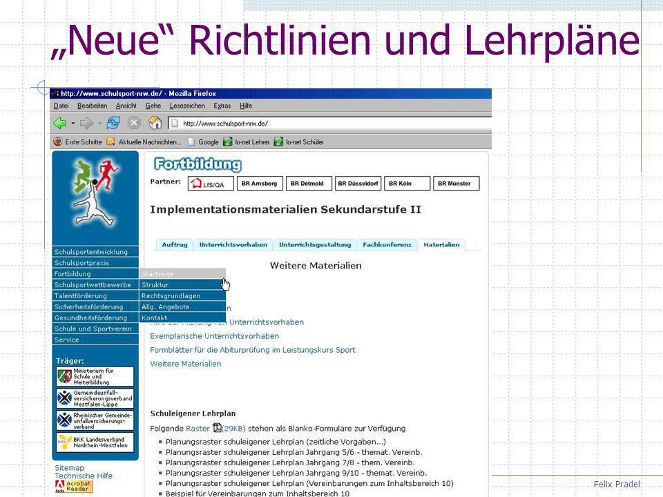 Felix Pradel Neue Richtlinien und Lehrpläne