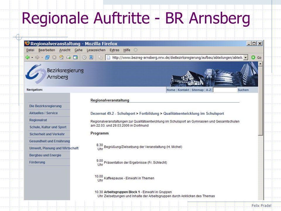 Felix Pradel Regionale Auftritte - BR Arnsberg