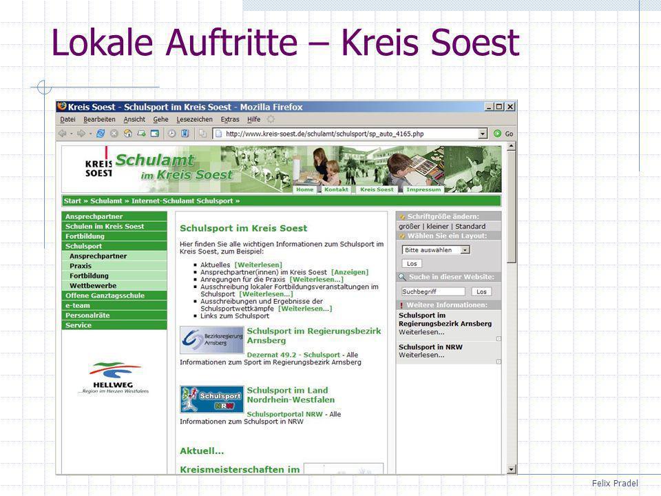 Felix Pradel Lokale Auftritte – Kreis Soest