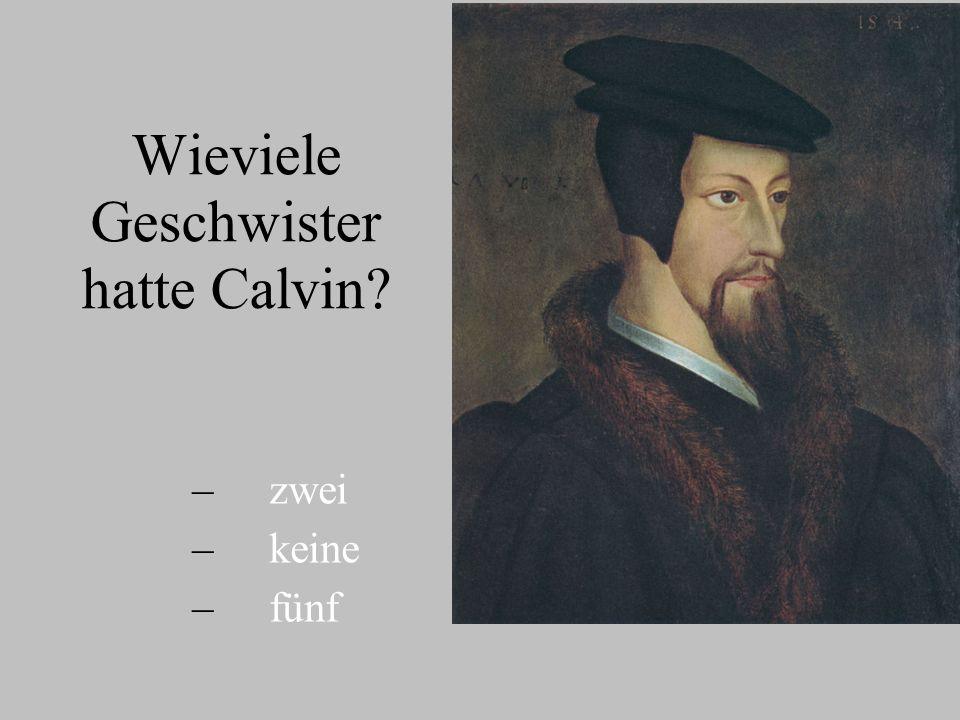Wieviele Geschwister hatte Calvin? – – zwei – – keine – – fünf