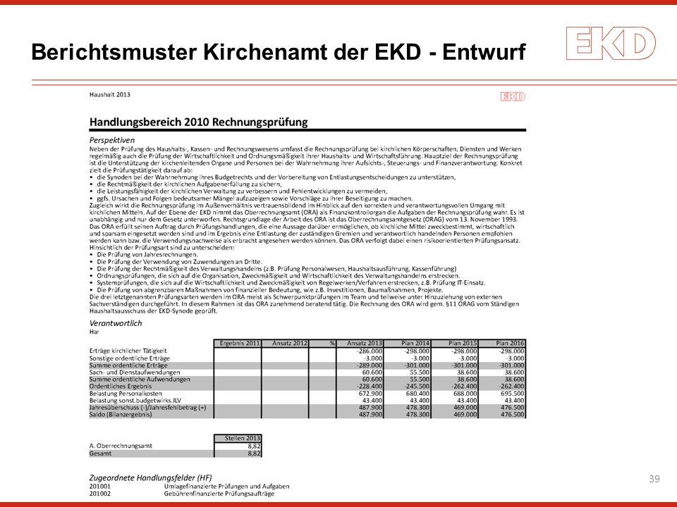 Berichtsmuster Kirchenamt der EKD - Entwurf 39