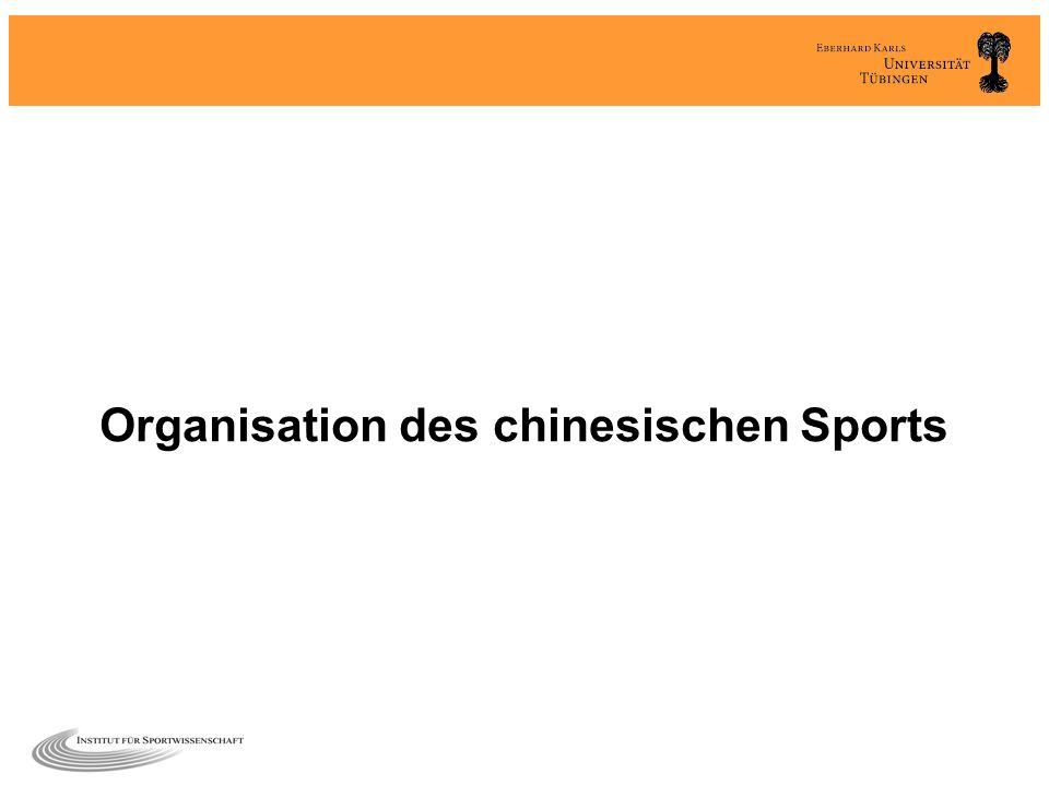 Organisation des chinesischen Sports