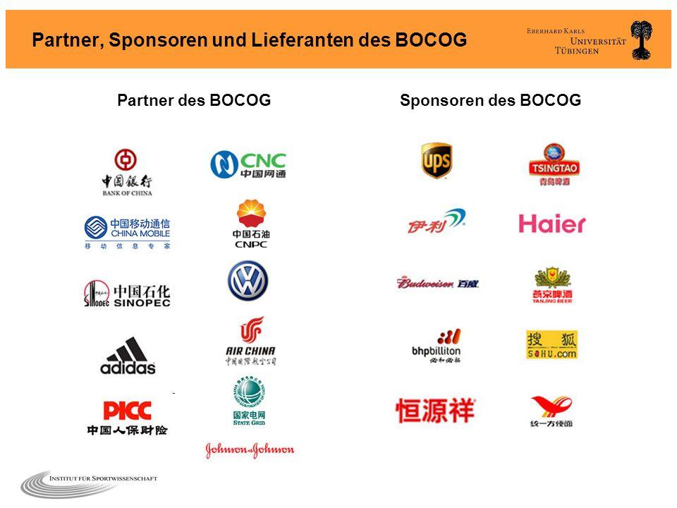 Partner, Sponsoren und Lieferanten des BOCOG Sponsoren des BOCOGPartner des BOCOG