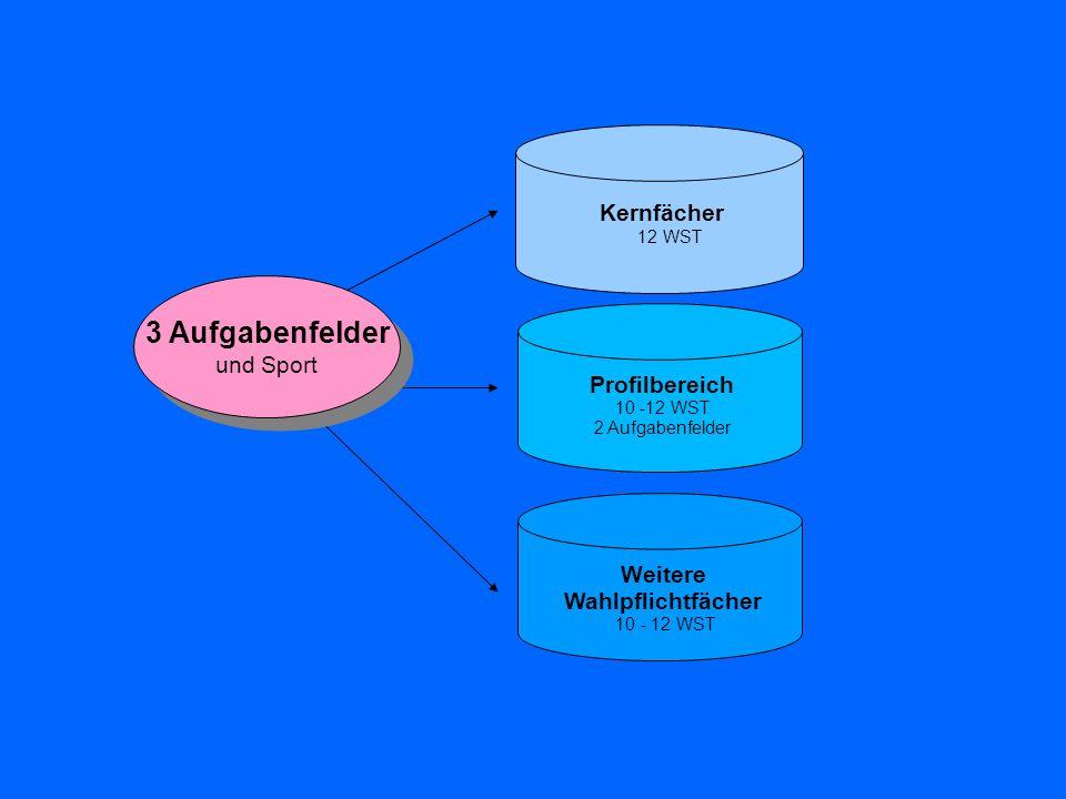 Abitur 4 Prüfungen Aufgabengebiete I - III müssen abgedeckt sein 3 schriftlich 1 mündlich Kernfach auf erhöhtem Niveau schriftlich/zentral Kernfach schriftlich/zentral oder mündlich Profilfach (erh.