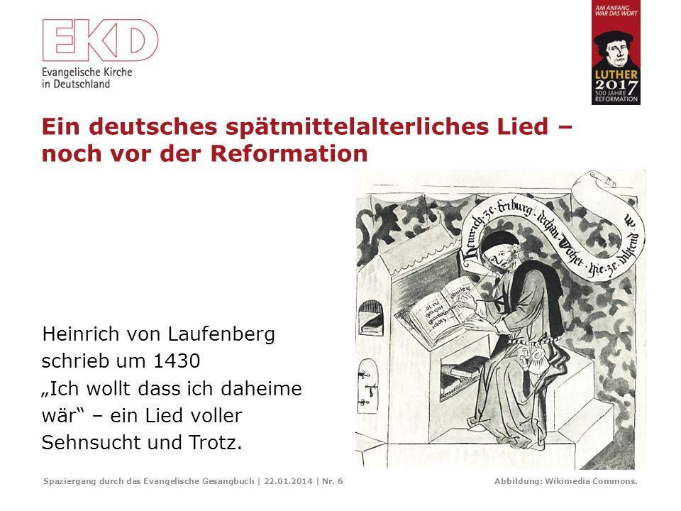 Der Hymnus Spaziergang durch das Evangelische Gesangbuch | 22.01.2014 | Nr. 5 Luthers Adventslied Nun komm der Heiden Heiland ist eine Bearbeitung des