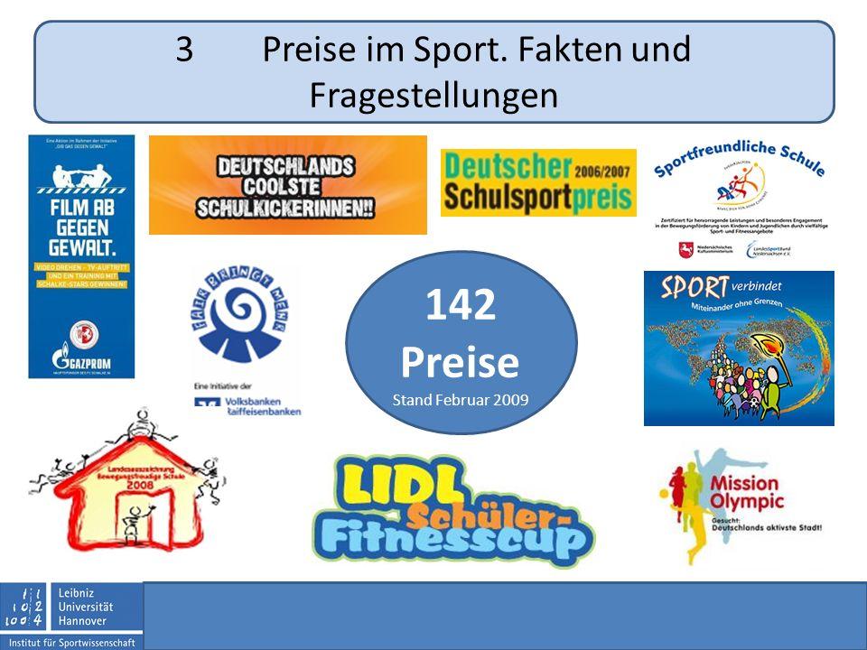3Preise im Sport. Fakten und Fragestellungen 142 Preise Stand Februar 2009