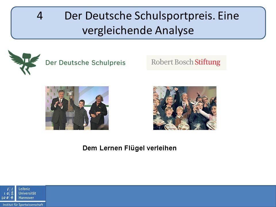 4Der Deutsche Schulsportpreis. Eine vergleichende Analyse Dem Lernen Flügel verleihen