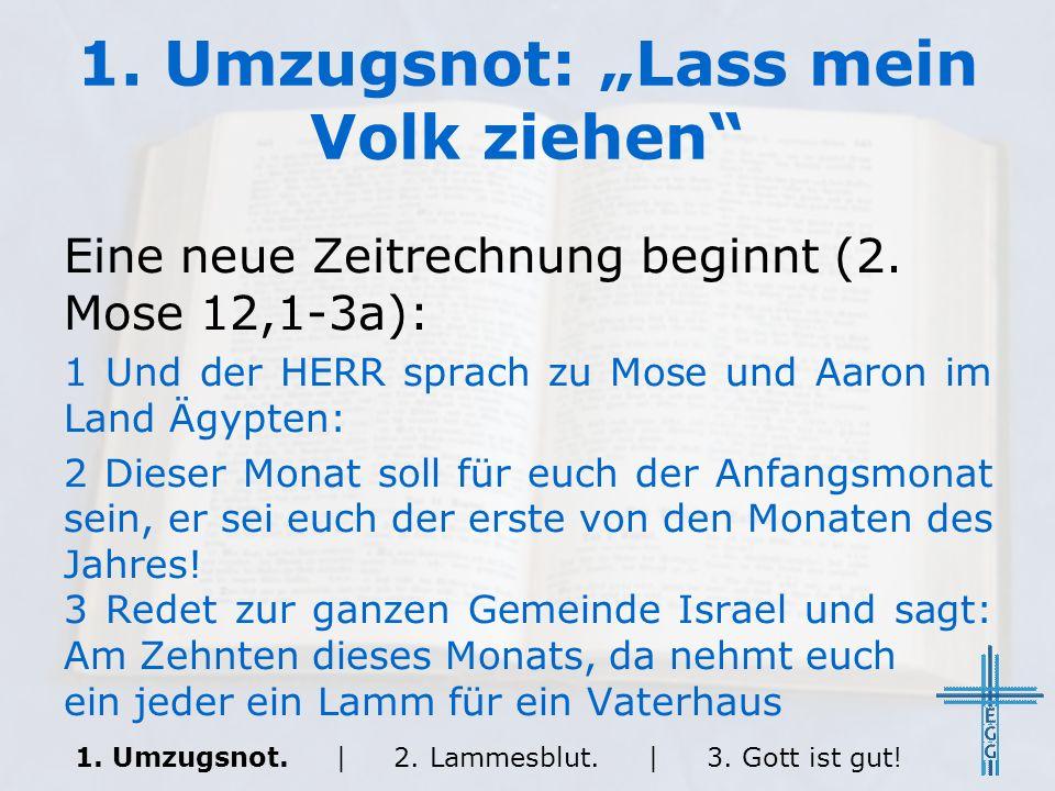 2.Lammesblut: Das Passahlamm Das Lamm: 1.