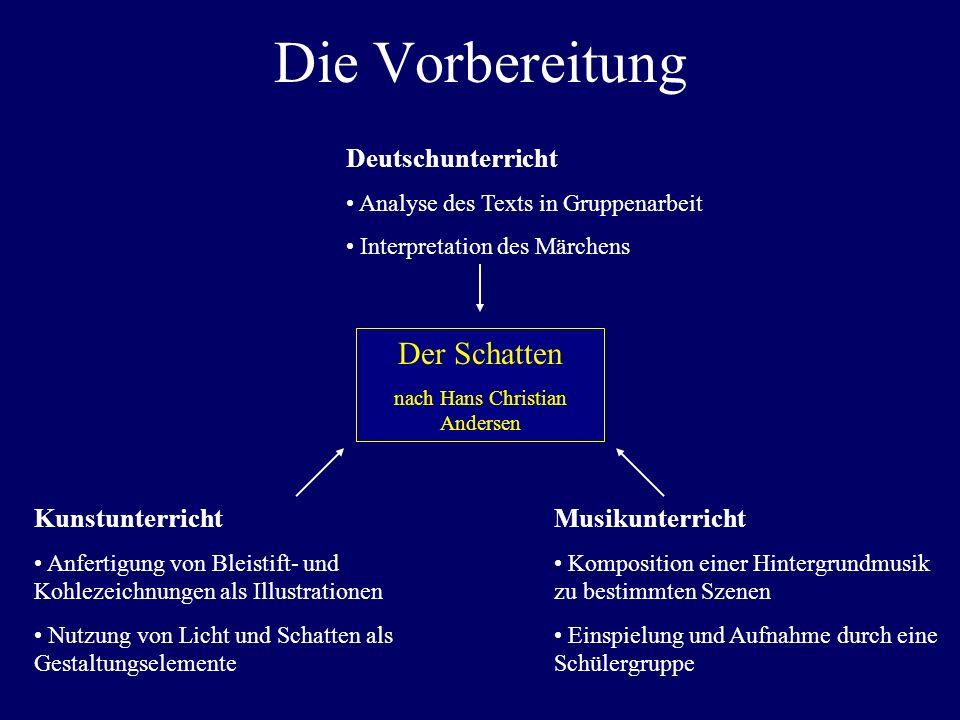 Die Vorbereitung Der Schatten nach Hans Christian Andersen Deutschunterricht Analyse des Texts in Gruppenarbeit Interpretation des Märchens Kunstunter