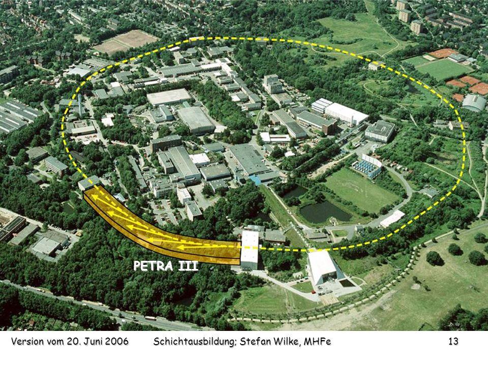 Version vom 20. Juni 2006Schichtausbildung; Stefan Wilke, MHFe13 PETRA III