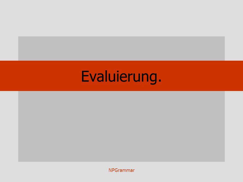 NPGrammar Evaluierung.