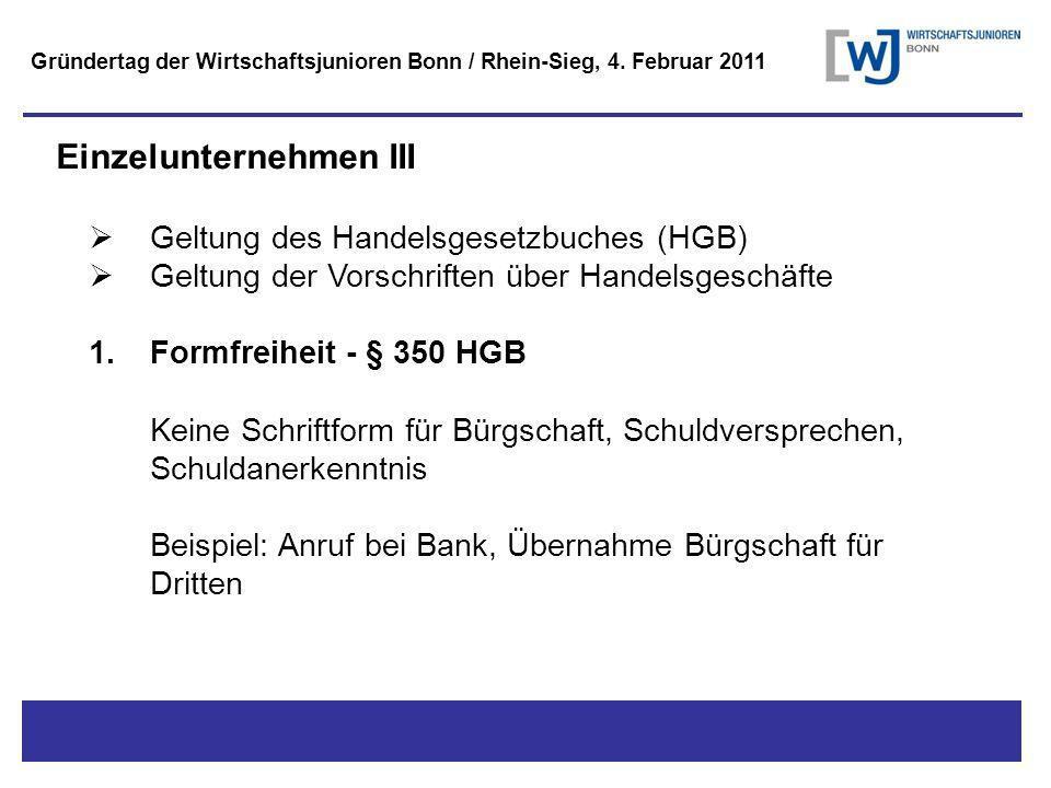 Titel - Untertitel Gründertag der Wirtschaftsjunioren Bonn / Rhein-Sieg, 4.