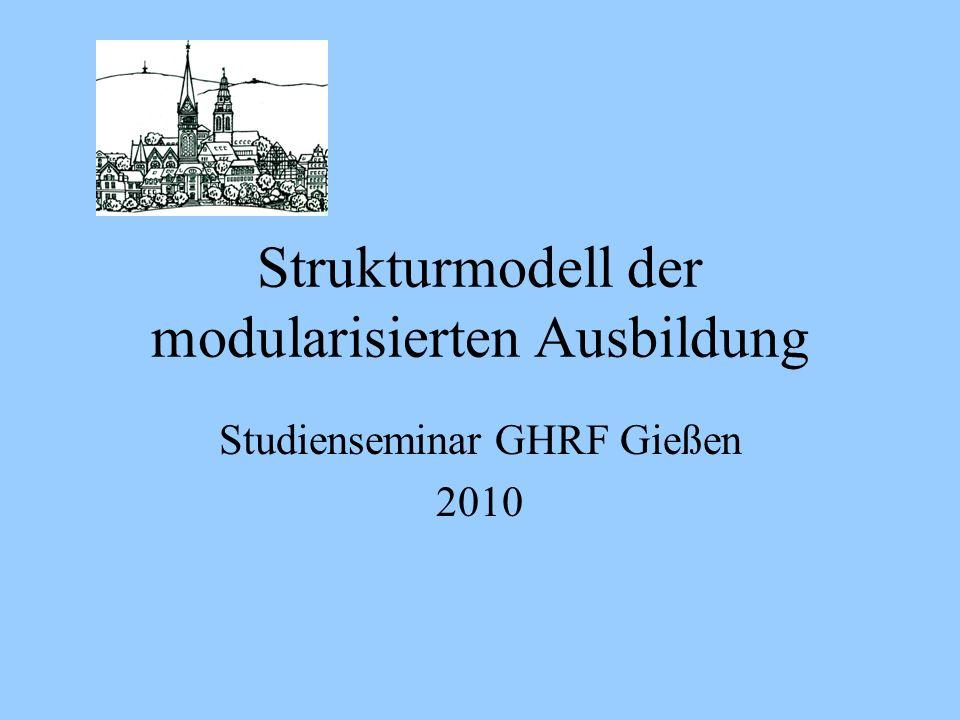Strukturmodell der modularisierten Ausbildung Studienseminar GHRF Gießen 2010