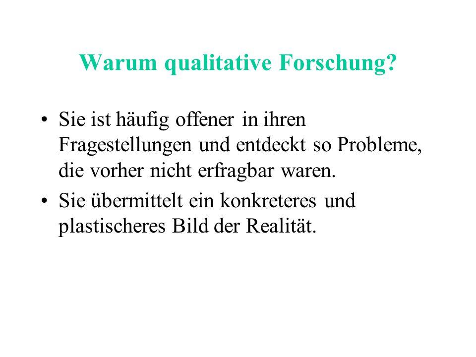 Warum qualitative Forschung.