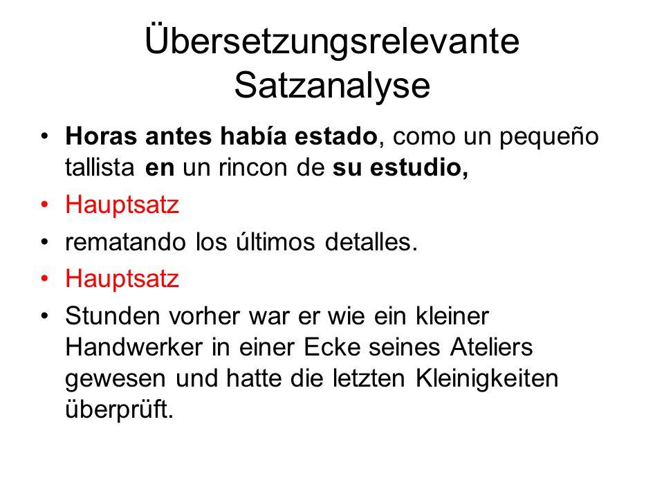 Übersetzungsrelevante Satzanalyse Volviendo a tu disco Nebensatz ?lo grabaste en Jérez.