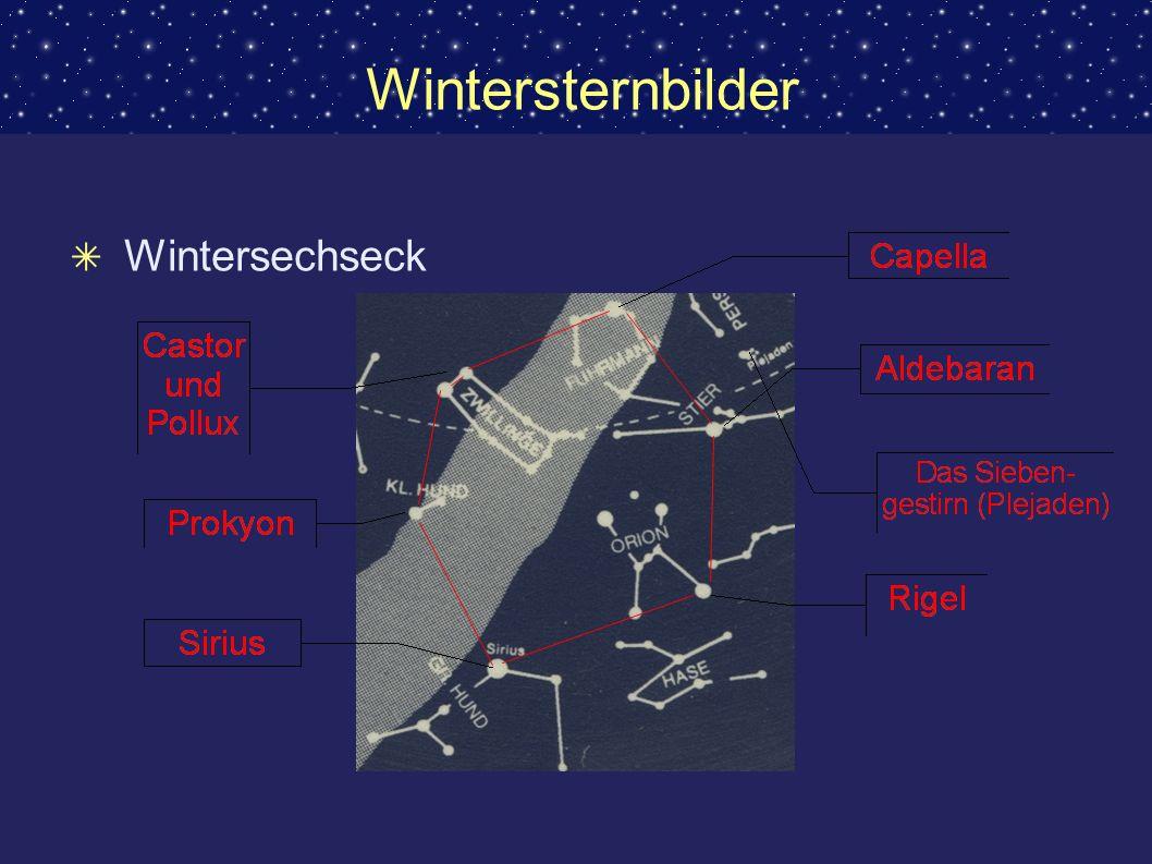 Wintersternbilder Wintersechseck