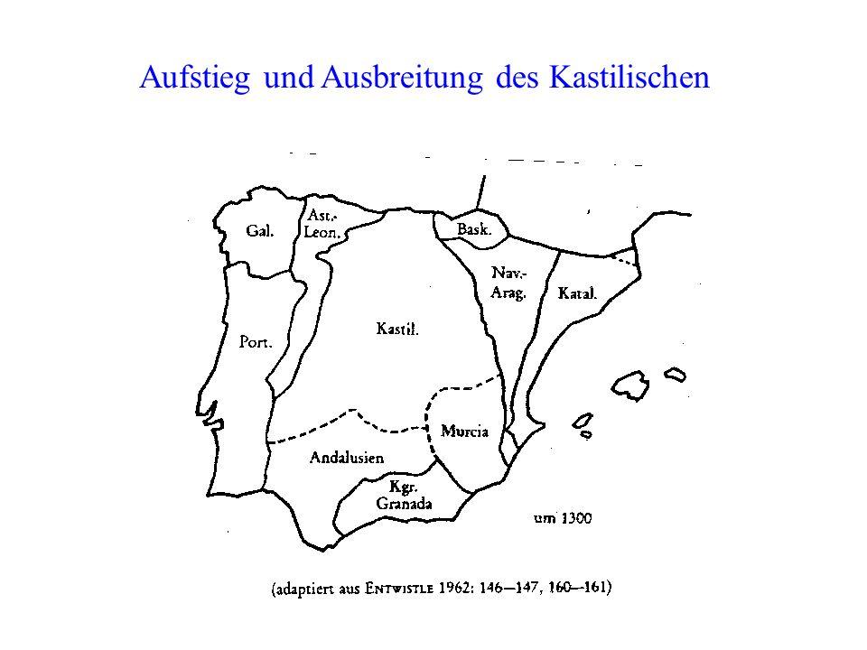 Aufstieg und Ausbreitung des Kastilischen
