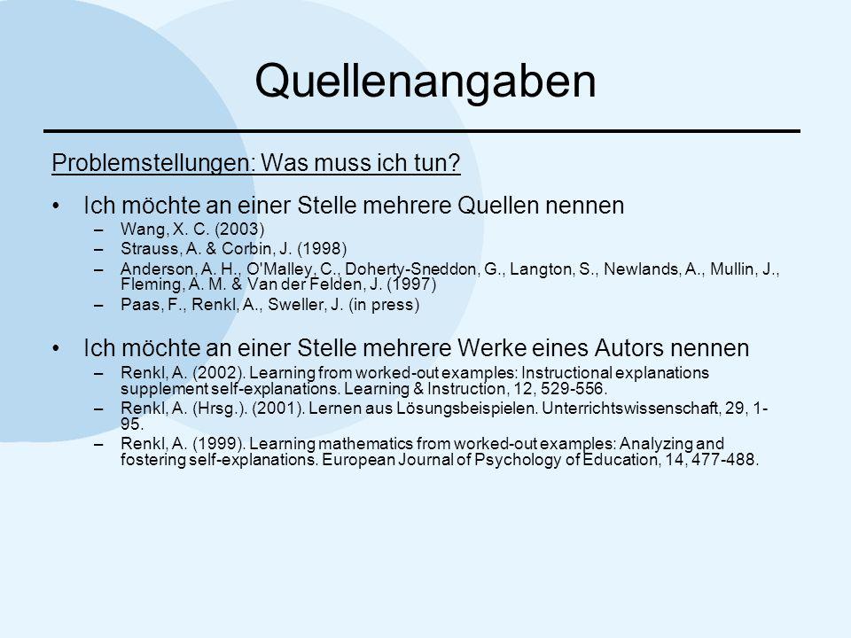 Literaturverzeichnis APA Monographie Name, V.(Jahr).