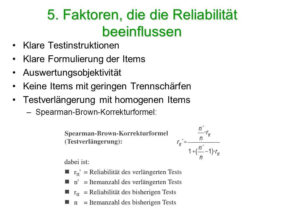 Beurteilung der Höhe von Testkennwerten