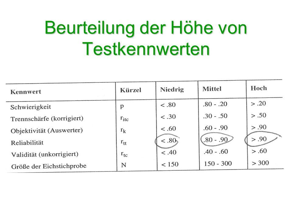 B) Durchführung mit SPSS Berechnung: –Analysieren Skalieren Reliabilitätsanalyse