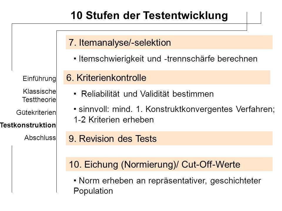 Einführung Klassische Testtheorie Gütekriterien Testkonstruktion Abschluss FRAGEN?...ansonsten Danke.