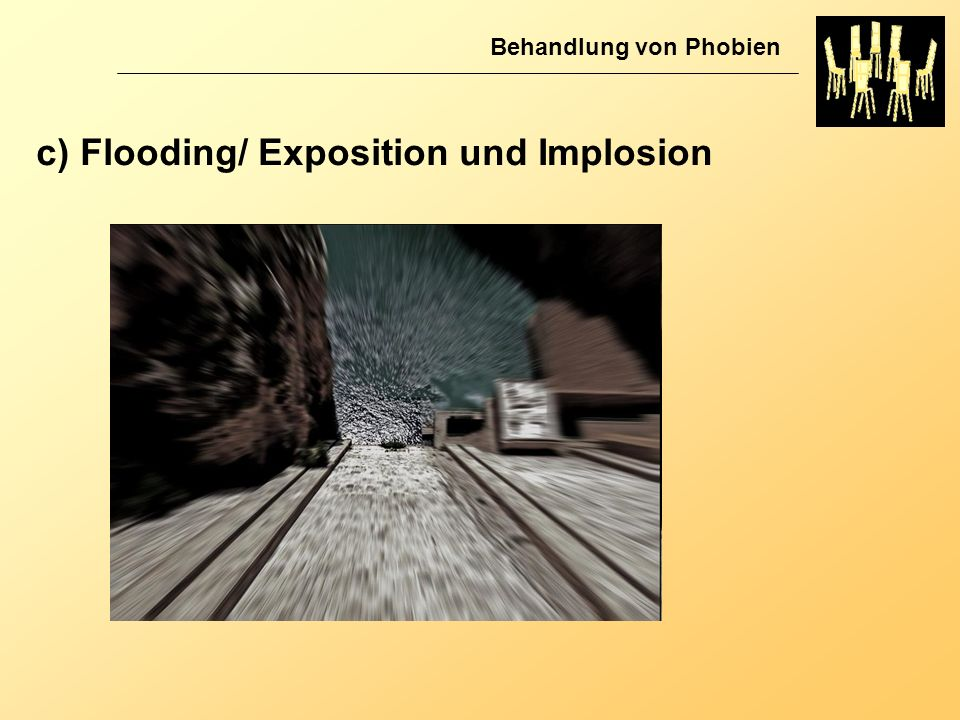 Behandlung von Phobien c) Flooding/ Exposition und Implosion