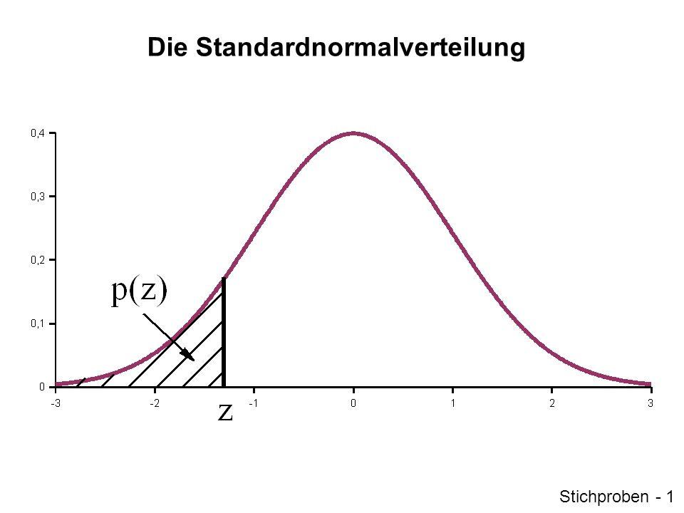 Die Standardnormalverteilung Stichproben - 1