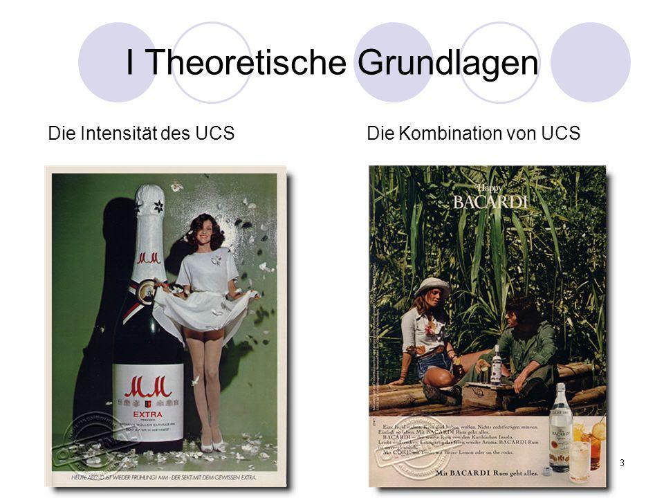 4 I Theoretische Grundlagen Die Intensität des CS CS und UCS sollten sich nicht widersprechen CS sollte bereits von der Semantik, der Schriftart, dem Inhalt oder dem Design emotional besetzt sein