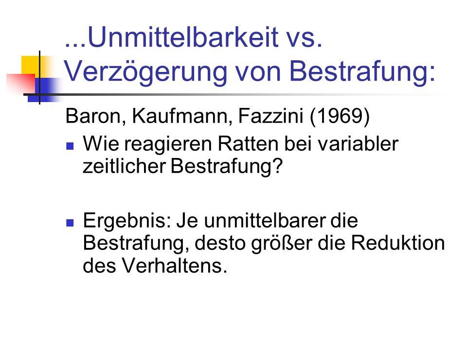 ...Unmittelbarkeit vs.