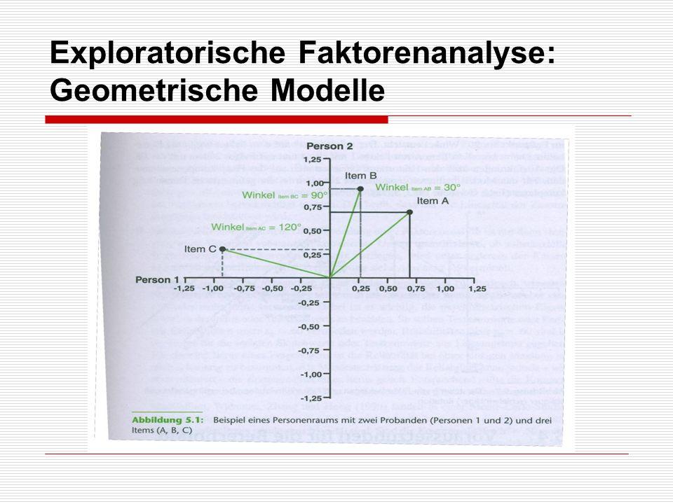 Exploratorische Faktorenanalyse: Geometrische Modelle