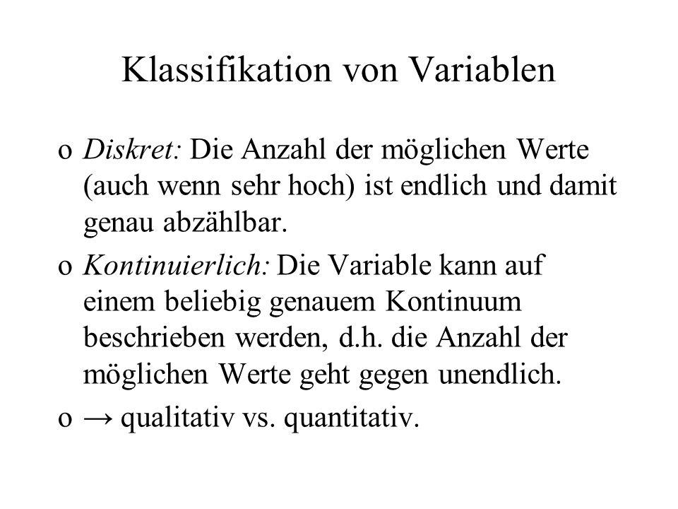 Diskret (d) oder kontinuierlich (k).