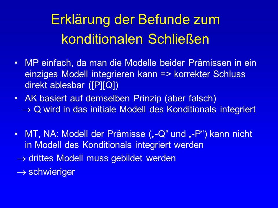 Mentale Modelle einiger aussagenlogischer Operatoren [A] [3] [-A] [3] [-A] [-3] [A] [3] [A] [-3] [-A] [3] [A] [3][-A][A]Vollständi ge Modelle [A] 3 …
