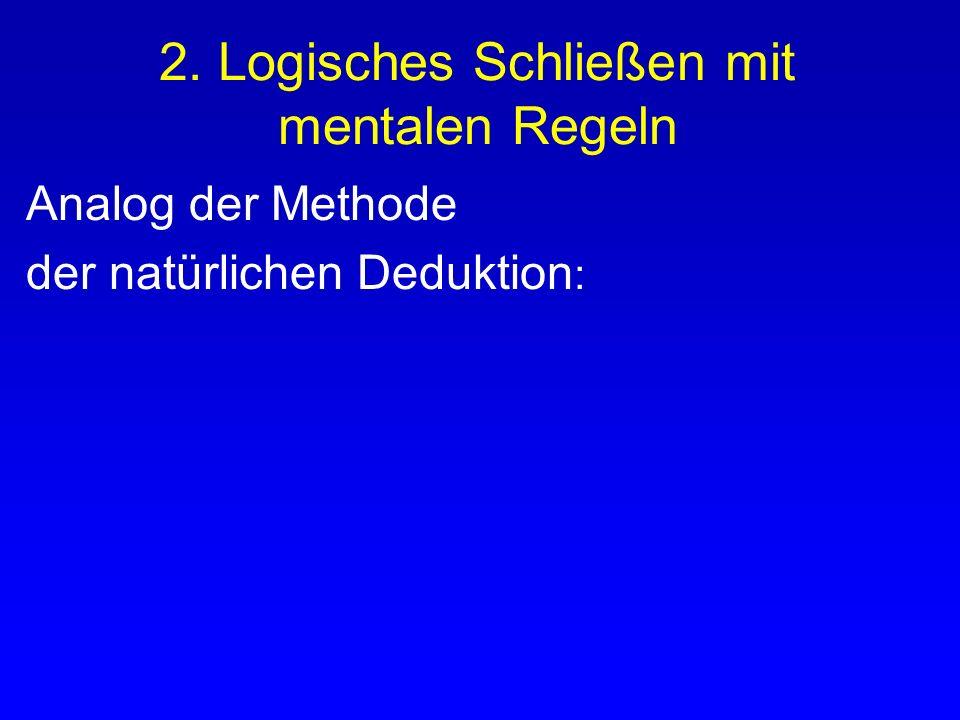 2. Logisches Schließen mit mentalen Regeln
