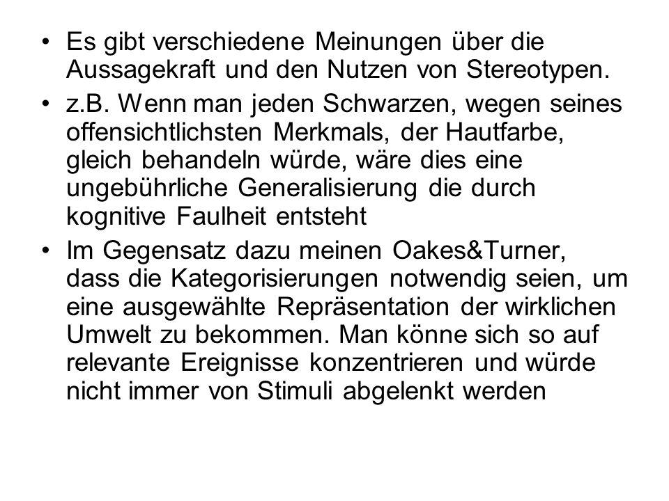 2.Fremdgruppenhomogenitätseffekt Wenn z.B.