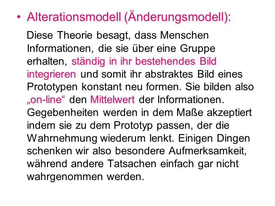 Co-existence-model: Dieses Model geht davon aus, dass Menschen sich sozusagen wie Buchhalter verhalten.