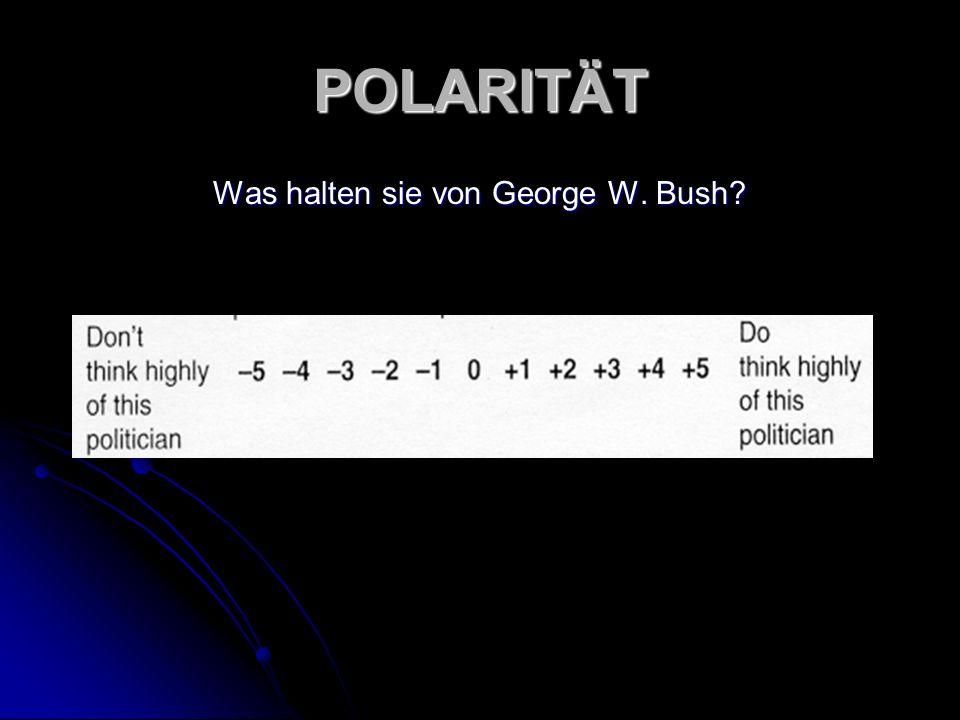 POLARITÄT Was halten sie von George W. Bush?