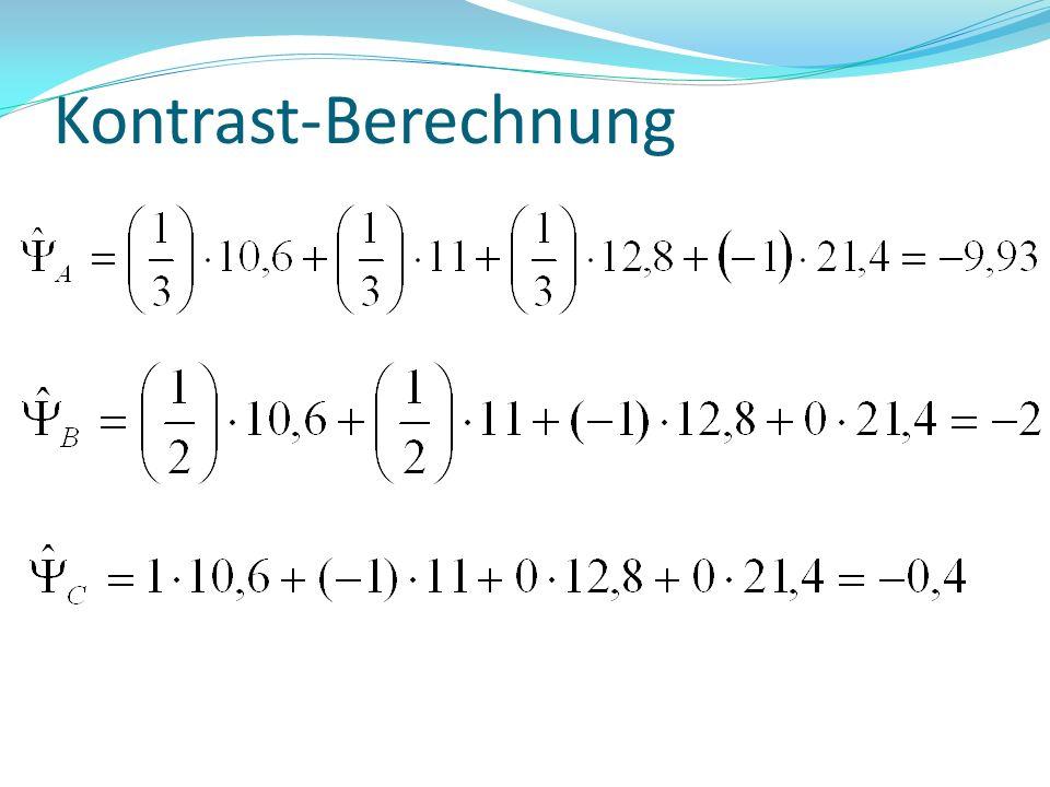 Kontrast-Berechnung