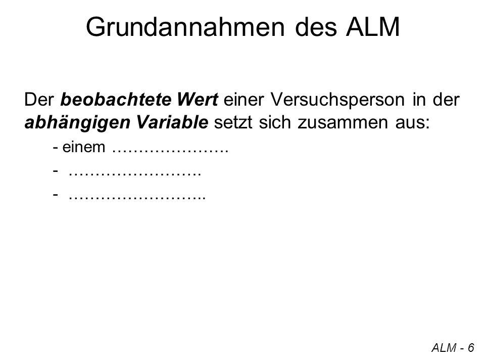 x i0 x i1 x ip a 0 a 1 a p y i = Die ALM-Gleichung + e i ALM - 7 · + · + … + ·